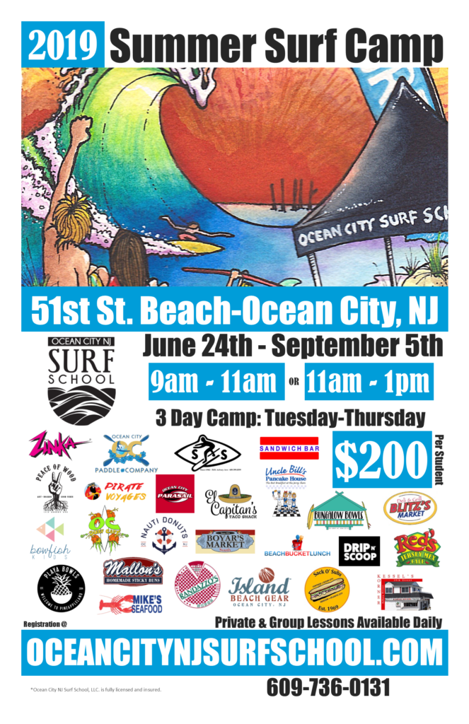 2019 Summer Surf Camp Details